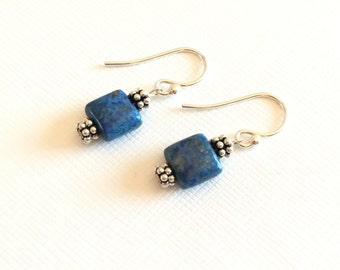Earrings - Lapis - Sterling Silver Accents