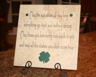 Irish Blessing Tile