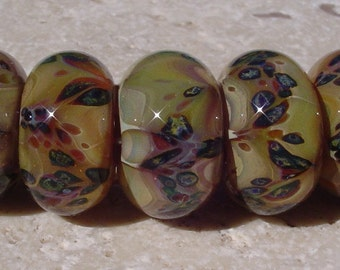 MYSTIC MARSH handmade boro lampwork beads by JRG