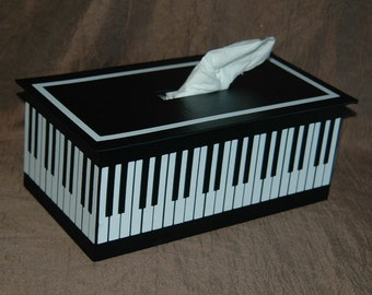 Tissue Box Cover ~ Piano Keyboard Design
