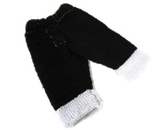 Baby Knit Black Jeans, Black Denim Jeans, Baby Cuffed Jeans