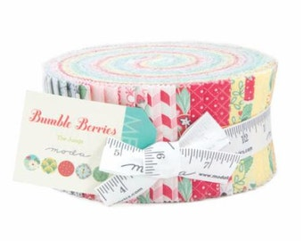 """Moda Jelly Roll - Bumble Berries Jelly Roll by The Jungs  - 42 - 2 1/2""""  x WOF Strips"""