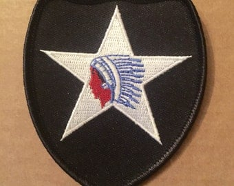 Authentic 1950s-60s 2nd Infantry Division Insignia Patch in Old Format