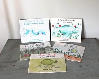 vintage Suzanne Tate Nags Head Beach books / Mary Manatee Flossie Flounder books and more