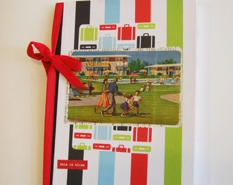 Hand Crafted Notebook, Family Vacation, Trip Through Time