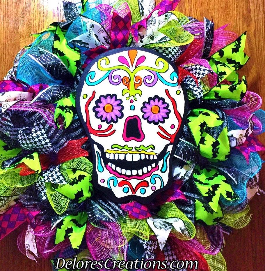 Sugar Skulls Door Wreath