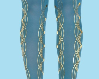 Burning man Pins print tights available in one size, gift ideas, gift for her