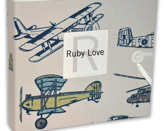 BABY BOOK | Vintage Planes Album | Ruby Love Modern Baby Memory Book