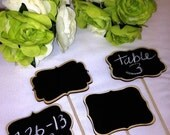 On SALE- 4 Mini Chalkboard Signs- Chalkboards on Sticks - Chalkboard Stakes - 6 Style Choices, Cake Toppers