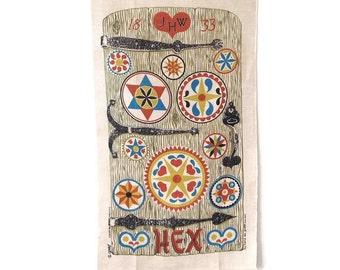 Linen Towel Robert Darr Wert Door with Hex Signs