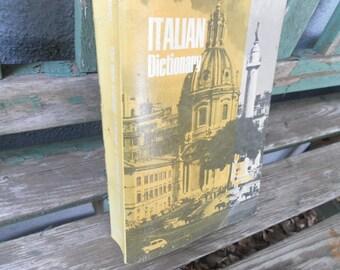 Vintage ITALIAN Language Dictionary 1976