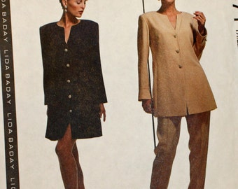 Vintage 1990s, Sewing Pattern, McCall's 6471, Misses' Dress, Tunic and Pants, Misses' Size 16, UNCUT, FF