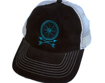 Wheel and Arrows Twill Unconstructed Trucker Cap