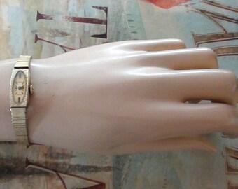 10k GRP Yellow Gold Antique Art Deco Wittnauer GENRE Wristwatch Signed Working Wind up Mechanical Small Wrist to Medium Open size