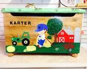 Farm Boy Toy Box