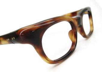 Vintage 60s Tortoise Horn Rim French Eyeglasses Frame NOS