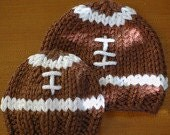 Toddler sized Knit Football Hat