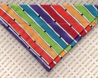 "Rainbow Stripe Jack's Jumper Over the Collar Bandana - 8"" Medium"