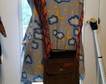 Corduroy Patchwork Festival Shoulder Bag Purse