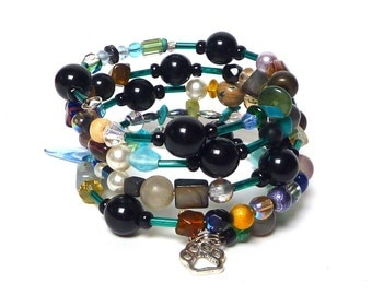 POCKET CANDY coil Beaded Bracelet by Beading Divas Fundraiser