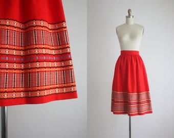 1940s folk woven skirt