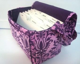 10% OFF Only 3 Left Super Large Size Coupon Organizer Binder / Budget Organizer Holder Box - Pink Plum Fleur-de-Lis