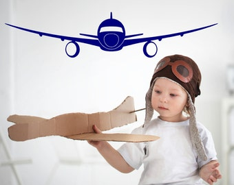 Airplane, Jet, Vinyl Wall Decal, Outer Space, Galaxy, Nursery, Childs Room, Play Room, Kids Room