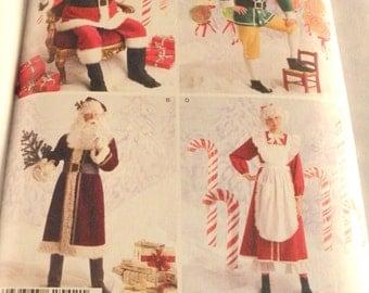 Simplicity 2542 Costumes Santa, St. Nick, Elf, Mrs. Santa Costumes,  2009 new uncut size L-XL