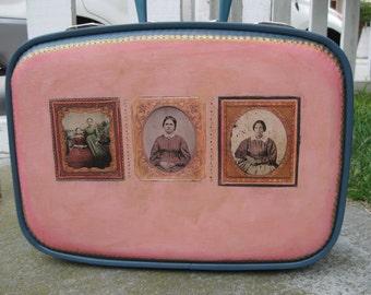 Upcycled suitcase, Tintypes