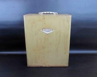 Vintage Craftsman Metal Storage Box / Industrial Storage