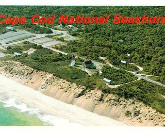 Cape Cod  Vintage Postcard - Cape Cod National Seashore and Nauset Light, Eastham (Unused)