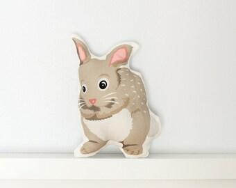 Bunny Pillow - Throw Pillow, Decorative Pillow, Baby Pillow, Nursery Pillow, Stuffed Animal, Bunny Stuffed Animal