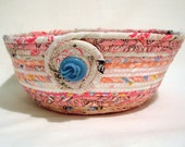 Baby Shower Pink Coiled Fabric Bowl