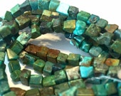 petite REAL TURQUOISE cubes full strand