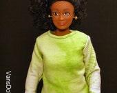 Lammily Green and White Tye Dye Shirt