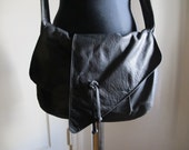 Vintage Asymmetrical Textured Leather Purse