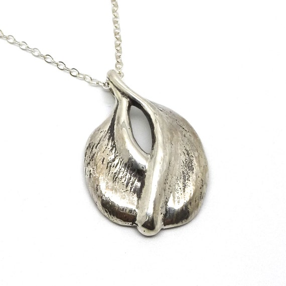 The Georgia O'Keefe- Sterling Silver Vulva Pendant Necklace