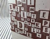 Typography Rectangular Vase