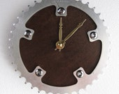 Recycled Vintage Sugino Bicycle Chainring Wall Clock