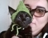Hand knitted cat elf hat
