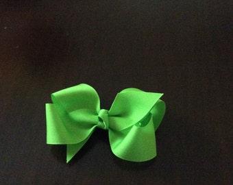 Toddler lime green grosgrain hairbow