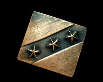 Copper Coat Clip, Rare Vintage REBAJES Copper Dress Fur or Coat Clip, Rebajes Star Clip, Copper Star Clip, Mid Century Copper