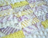 Vintage Purple and Yellow Chenille Bedspread squares-21-6 inch squares