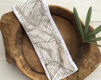 Single Baby Burp Cloth - Tropical Baby Gift - Banana Leaf Print  - Boutique Baby Gift - Layette Gift - Hawaii Baby - Gender Neutral
