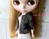 rêve de Rui x Blythe -Military lace patched velvet jacket