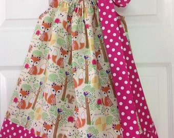 READY TO SHIP - Forest Friends Pillowcase Dress Size 3