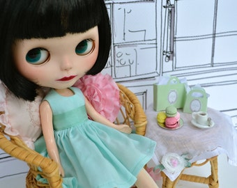 Pistache Dress for Blythe Doll - French Macaron Collection