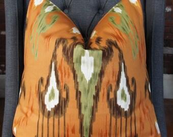 Robert Allen, Ikat Pillow, Handmade Pillow, Made in USA, Pillow Cover, Deocrative Pillow, Throw Pillow, Home Furnishing, Home Welcome
