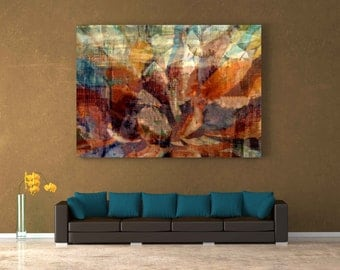 "Serenity Large Abstract Art Print 36x24x1.5"" gallery wrapped canvas"