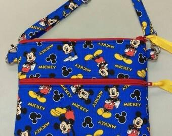 Disney Mickey Mouse purse, messenger/cross body bag handmade